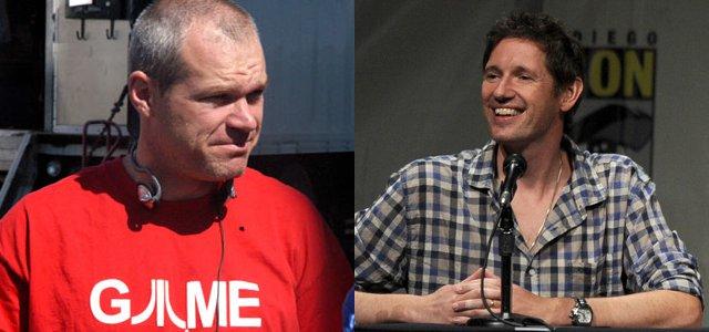 """Uwe Boll ja Paul W. S. Anderson, videopelielokuvien """"grand old manit""""."""