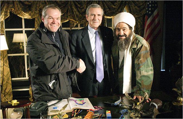 Osama ja George W. ovat kavereita, OMG!!1 Eikö Uwe Bollilla ole mitään häpyä!